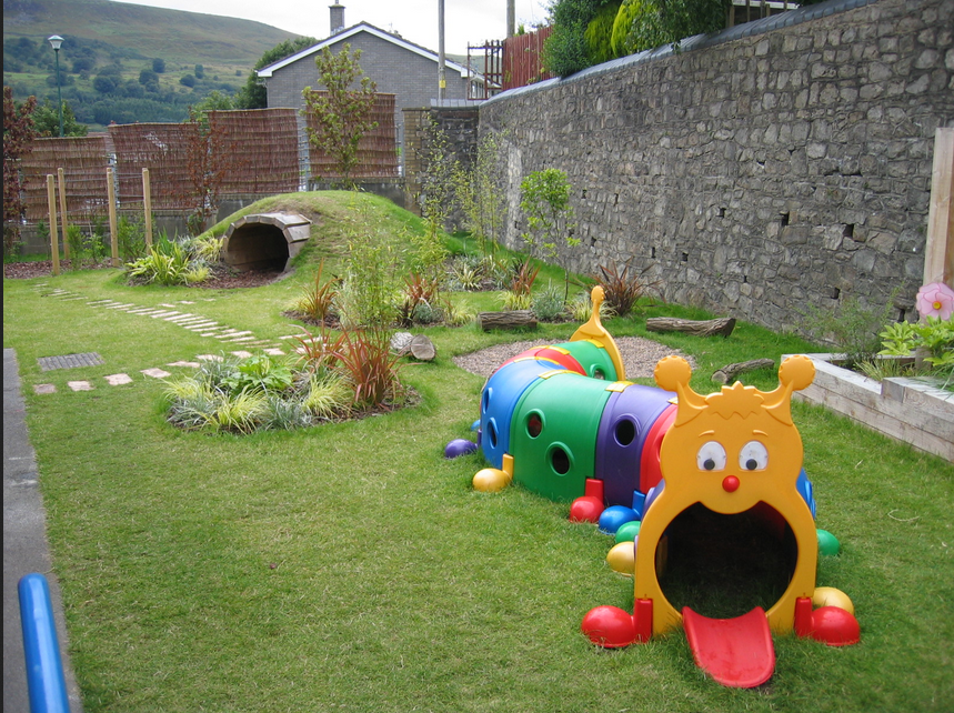 Дизайн участка с детской площадкой
