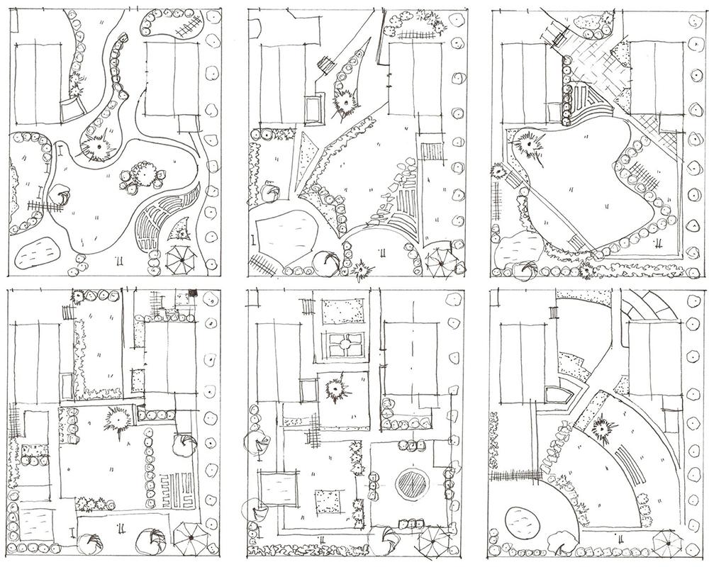 Эскиз-проект ландшафтного дизайна в Москве
